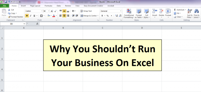 why you shouldn't run your business on excel