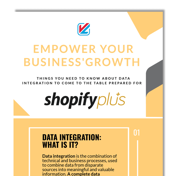 infographic, empowering business growth, shopify plus, data integration