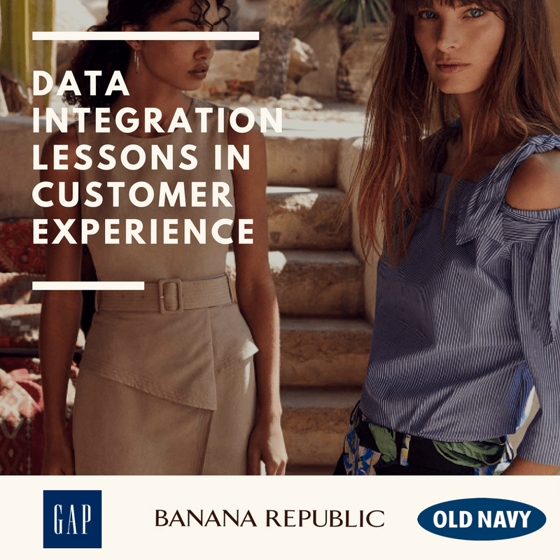 Ecommerce online shopping, data integration that enables customer experience on websites, the gap banana republic, old navy, website optimization, integrated video footage, data integration to enable better services with VL OMNI