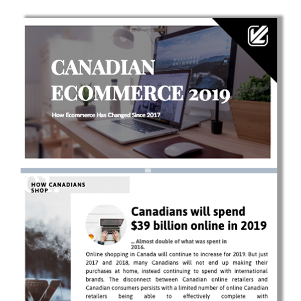 canadian ecommerce 2019 infographic