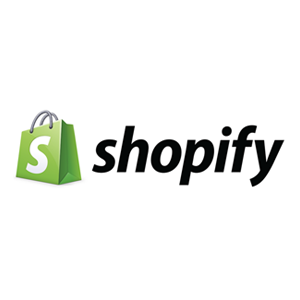 Shopify logo, VL OMNI integration solution