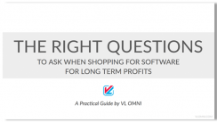 the right question to ask when shopping for long term profits, strategy presentation